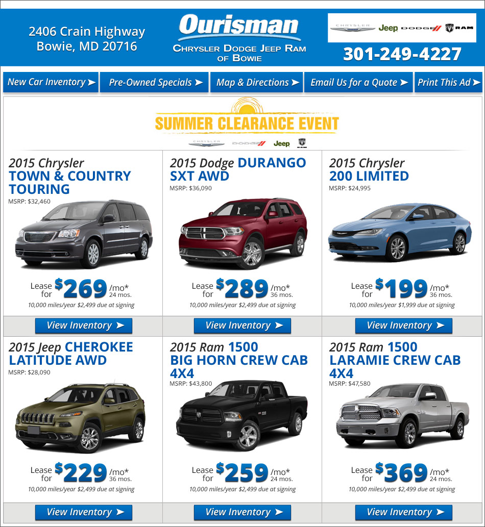 Ourisman Chrysler Dodge Jeep Ram Of Bowie | New Chrysler, Dodge, Jeep, Ram  Dealership In Bowie, MD 20716