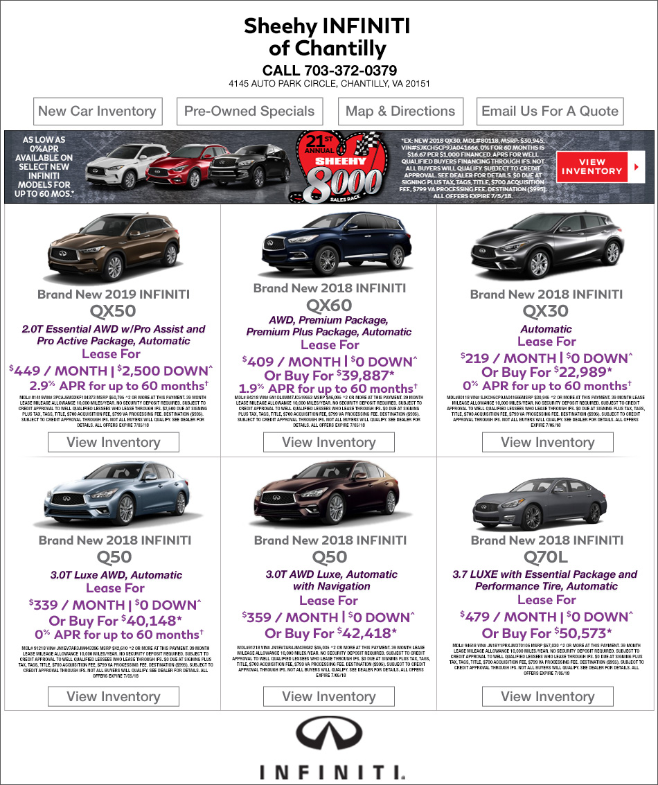 alexandria a infiniti and infinity of specials dealer special is passport